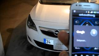 Opel Astra J Mobil Phone Control - Otodiag (Android)