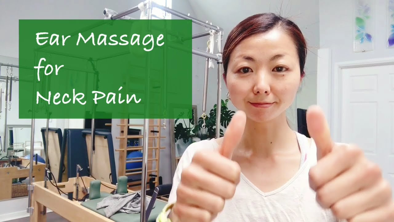 The simple fascia-release self-care practices for neck pain.[Experience 3 : Ear Massage]