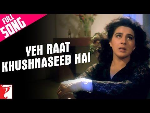 Yeh Raat Khushnaseeb Hai  Full Song  Aaina  Jackie Shroff  Amrita Singh  Lata Mangeshkar
