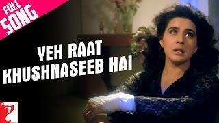Yeh Raat Khushnaseeb Hai - Full Song | Aaina | Jackie Shroff | Amrita Singh | Lata Mangeshkar