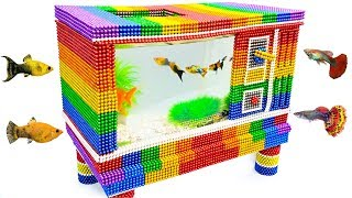 DIY - Build Amazing Aquarium Television Fish Tank With Magnetic Balls (Satisfying) - Magnet Balls