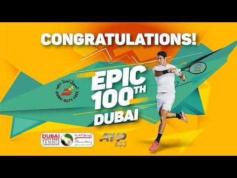 Roger Federer Wins his 100th career singles title in Dubai