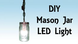 Diy Step By Step Tutorial Mason Jar Led Hanging Light - Pirate Lifestyle Tv ™ Episode 042