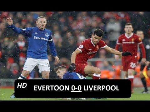 Hasil Pertandingan - Everton vs Liverpool 0 0  Highlights Extended 2018 HD   YouTube
