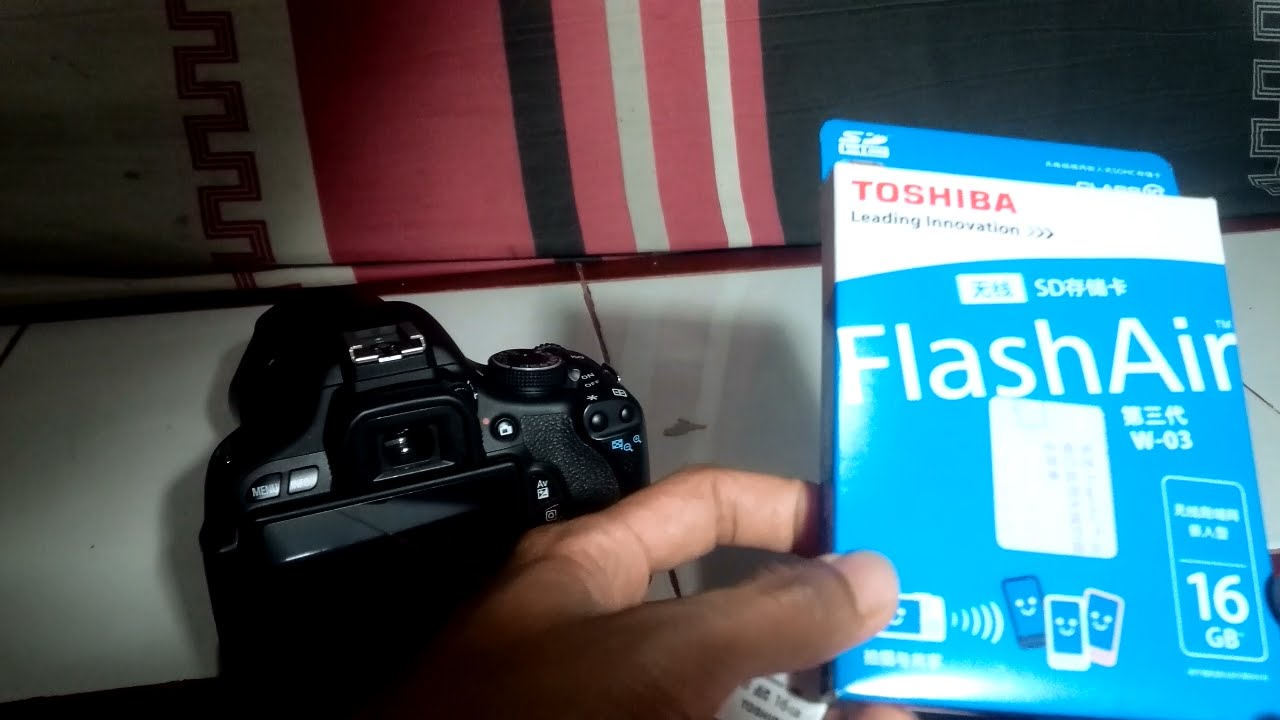 Review Toshiba SD Card Wifi Flash Air Dengan Camera DSLR Canon 600D