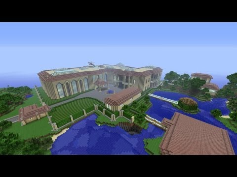 Minecraft modern mansion tour with download xbox 360 doovi for Modern house 6 part 2