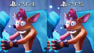 CRASH BANDICOOT 4 PS5 vs PS4 Comparison