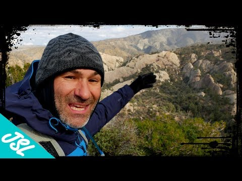 Exploring The Devil's Punchbowl Slot Canyon Waterfall