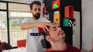 ASMR Turkish Barber Face,Head and Back Massage 113