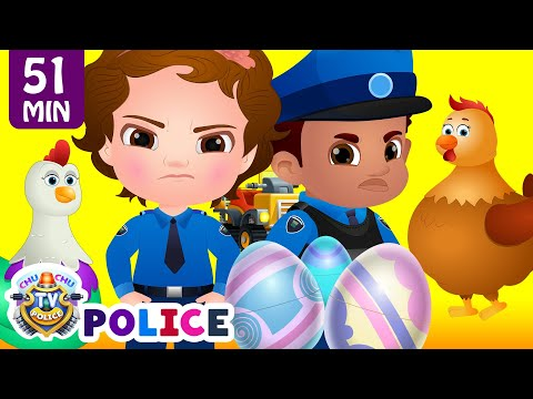 ChuChu TV Police Save The Super Hens from Bad Guys | Police