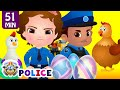 ChuChu TV Police Save The Super Hens From Bad Guys | Police Car Chase | ChuChu TV Surprise Eggs Toys