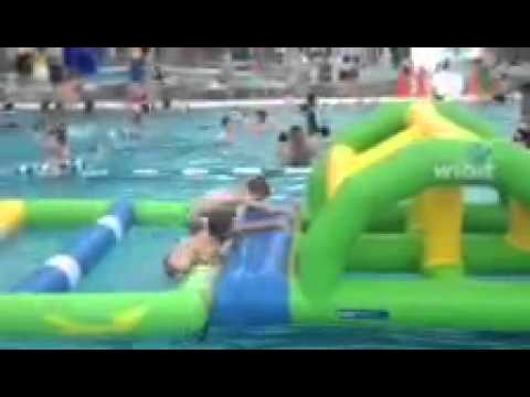 Swimming Pool Obstacle Course Fail Youtube