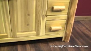 """Cedar Lake 42"""" Standing Log Bathroom Vanity"""