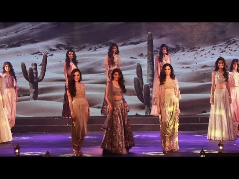 Miss India North 2018 finalists wearing Payal Singhal English Garden Collection