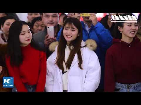 Happy Lunar New Year flash mob dance