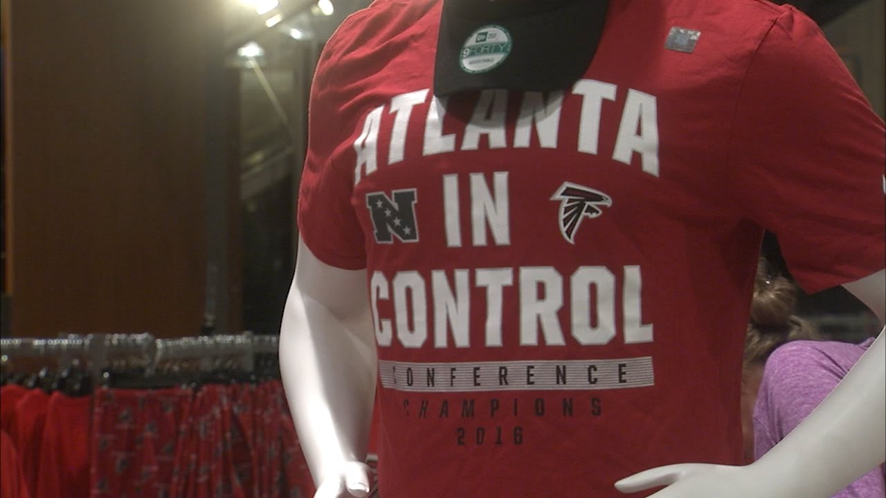 NFC Championship gear hits stores for Falcons fans - YouTube c3ec794e8