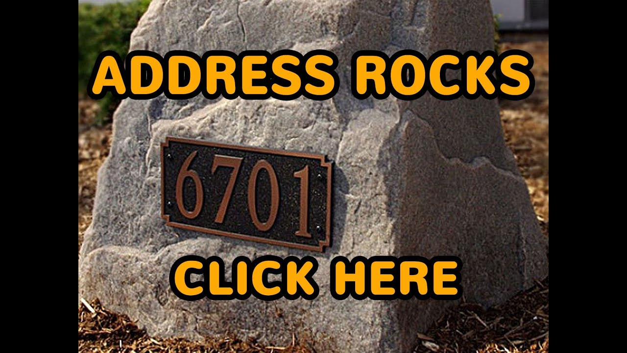 Landscape Rock With Engraving : Personalized house address rocks buy decorative