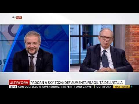 Claudio Borghi - Manovra in Deficit e confronto con Padoan - 28/09/2018