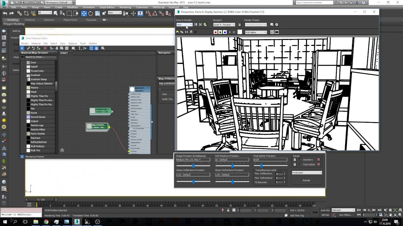 Line Drawing Render 3ds Max : Ds max sketch render youtube