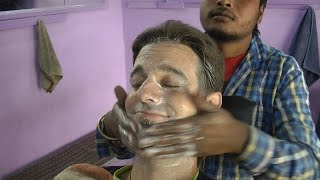 Indian Style - the Art of shaving, face and head massage