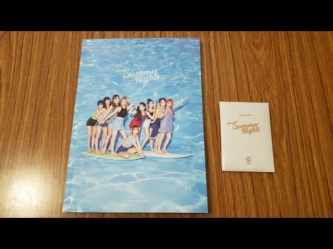 Unboxing TWICE 트와이스 2nd Special Album Summer Nights (A Version)
