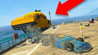THIS MADE A TANK RAGE QUIT! *RAMP CAR TROLLING!* | GTA 5 THUG LIFE #222