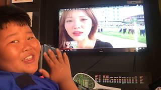 A KOREAN SISTER LOOKING FOR ABUNAO   ABUNAO's REACTION ON HER VIDEO   EI MANIPURI E