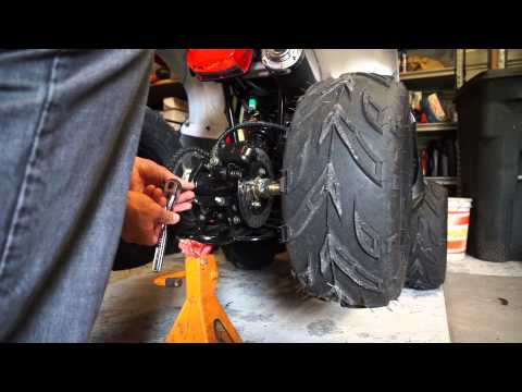 TaoTao 125D Sprocket Upgrade - BIG Improvement - YouTube