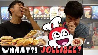 Ang unang pag bisita sa Jollibee ng isang Koreano at ng isan...