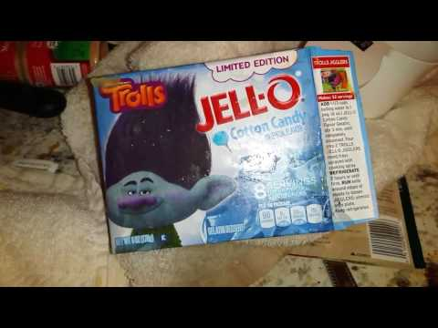 Cotton Candy Jell‑O Dreamworks Trolls Limited Edition