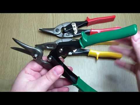 Aviation tin snips 3pcs 10 inch Unboxing (screwfix)