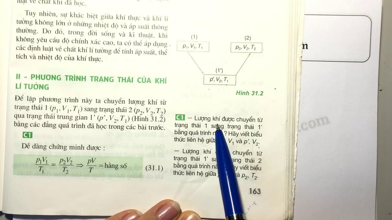 Trả lời câu C1 trang 163 SGK Vật lý 10