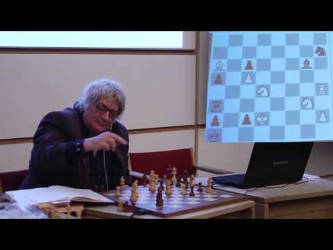 Jan Timman shows mind blowing endgame studies at Politiken Cup 2015