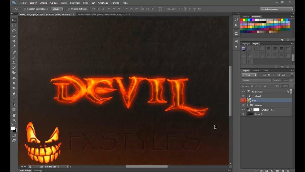 Photoshop tutorial devil text effect cool photoshop text photoshop tutorial devil text effect cool photoshop text effects youtube baditri Images
