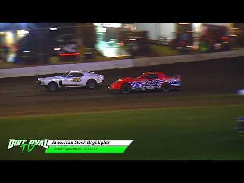4 13 18 Ocean Speedway American Stock Highlights