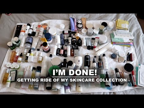 decluttering my entire skincare collection | Serein Wu