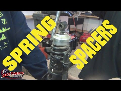 SPRING SPACERS LIFT KIT ON ATV, PUTTING THEM ON MY CAN-AM!