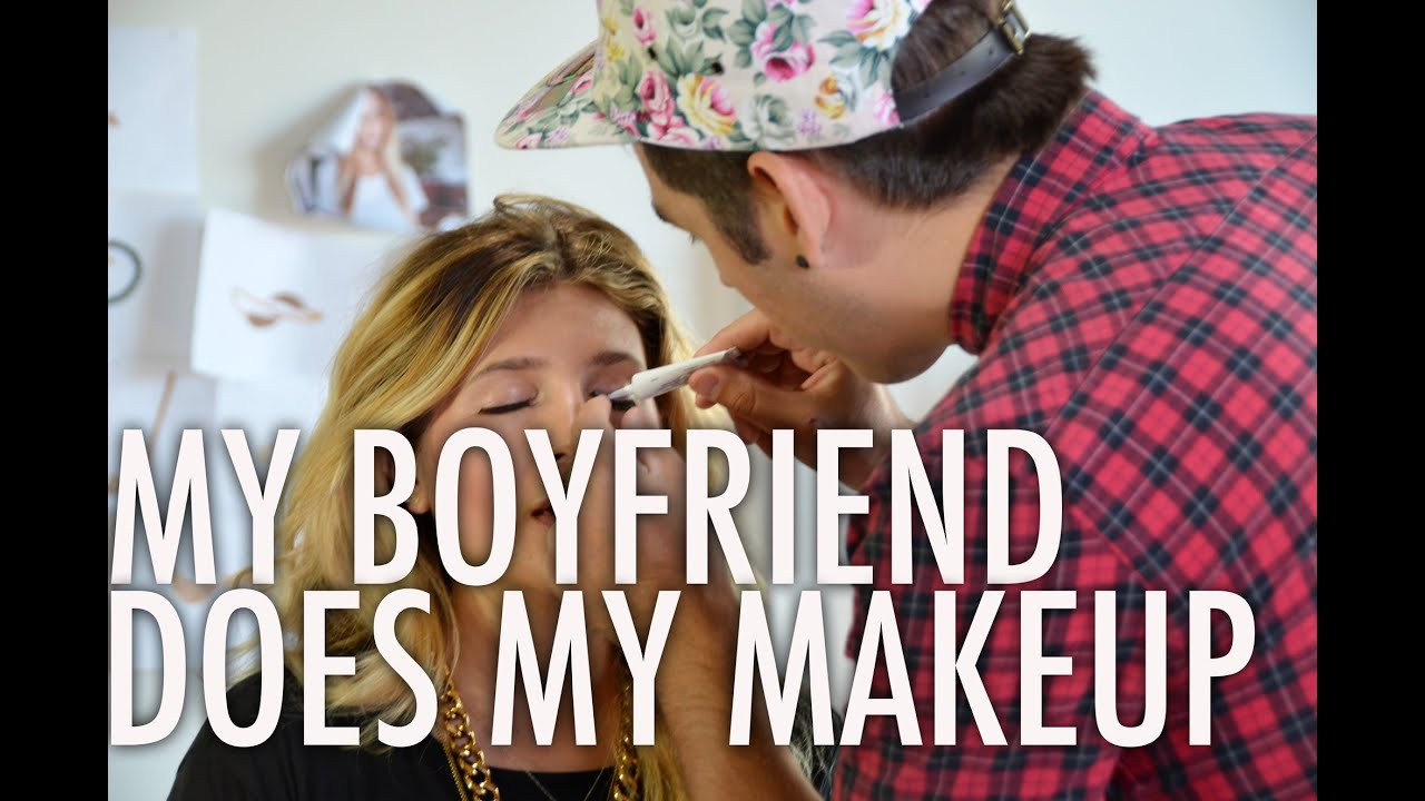 My Boyfriend Does My Makeup with Mr. Kate