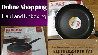 #Amazon#Shopping || #Nirlon #Nonstick#pan || #Haul and #Unboxing ||