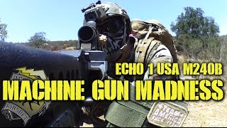 DesertFox Airsoft: Machine Gun Madness (Echo 1 M240 Bravo Gameplay)