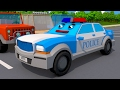 The Police Car and Tow Truck Chase Service Vehicles Cartoons for children 3D Cars