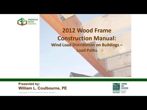 std311 2012 wfcm webinar 2 wind load distribution on buildings load paths american wood council - Wood Frame Construction Manual