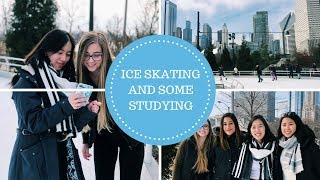 college vlog // ice skating and some studying