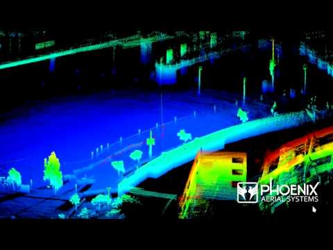 Phoenix Aerial Systems Inc. UAV LiDAR Scan - Chargers Stadium