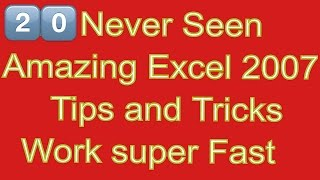 Easy Tutorials- 20 Excel Tips and Tricks for Beginners and Expert Help Make your Work Faster