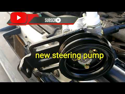 How to replace steering pump assembly ISUZU 2012