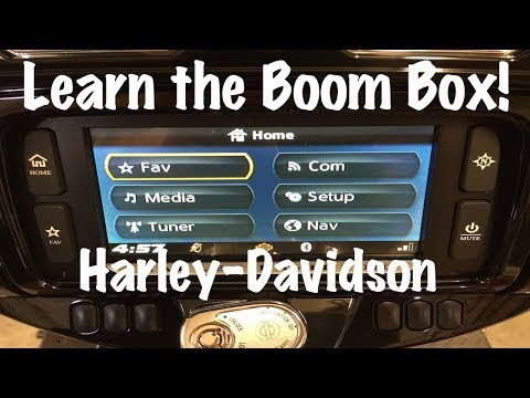 How to use Harley-Davidson Boom Box!™ Infotainment System-GPS Maps-Stereo-Bluetooth-Tutorial