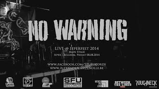 No Warning Live @ Ieperfest 2014 (HD)