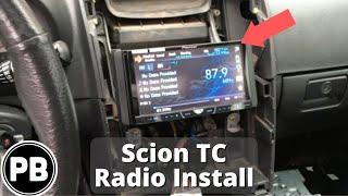 2005 - 2010 Scion TC Stereo Install Pioneer AVH-P4400BH