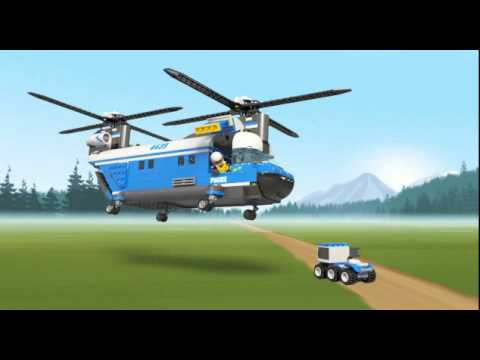 LEGO 4439 Forest Police Heavy lift Helicopter - YouTube